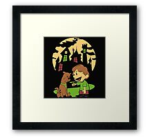 Calvin and Hobbes Scooby Framed Print