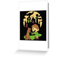 Calvin and Hobbes Scooby Greeting Card