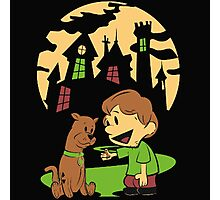 Calvin and Hobbes Scooby Photographic Print