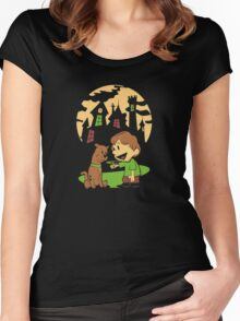 Calvin and Hobbes Scooby Women's Fitted Scoop T-Shirt