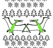 Pterodactyl Ugly Christmas Sweater by supersoup