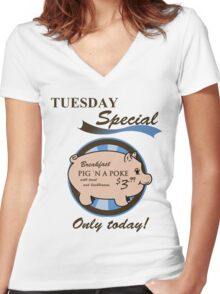 Supernatural - Pig 'n a poke Women's Fitted V-Neck T-Shirt