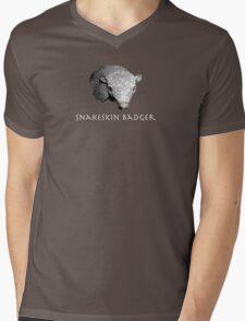 Snakeskin Badger Mens V-Neck T-Shirt