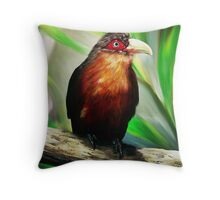 Tropical Bird Throw Pillow