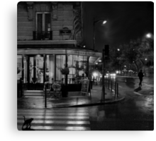 Paris Cafe at Night II Canvas Print