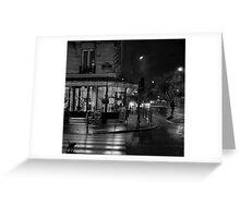 Paris Cafe at Night II Greeting Card
