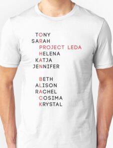 Project Leda Names - Orphan Black T-Shirt