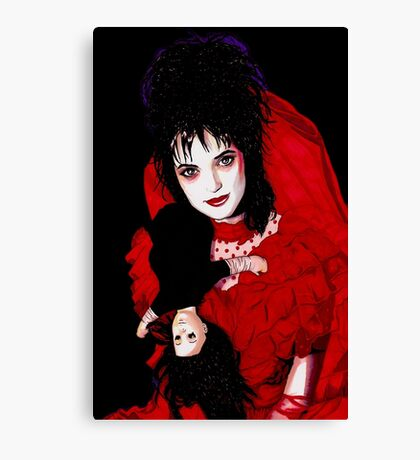 Lydia Deetz - black Canvas Print