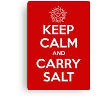 Keep Calm and Carry Salt Canvas Print