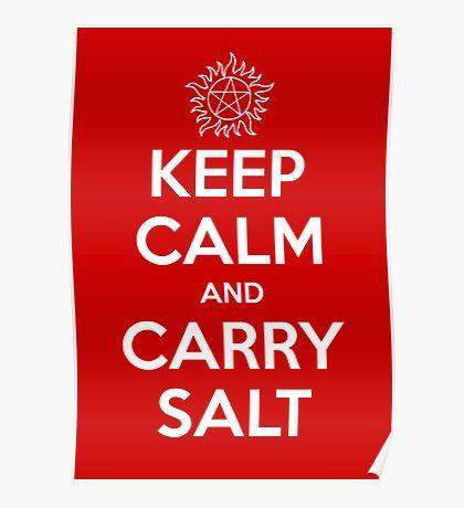 Keep Calm and Carry Salt Poster