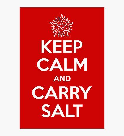 Keep Calm and Carry Salt Photographic Print