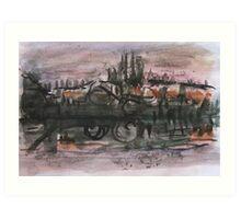 Waterscape of Dead-Tisza  Art Print