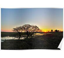 Sunset Kakadu Wetlands Poster
