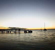 Monkey Mia Jetty Sunset by Ann Barnes