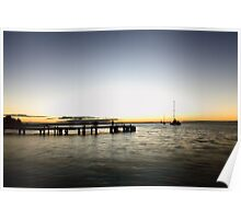 Monkey Mia Jetty Sunset Poster