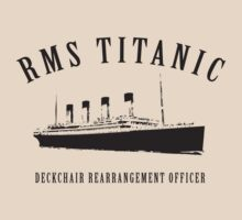 RMS Titanic Deckchair Rearrangement Officer by Stephen Hoper