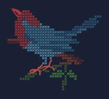 Dear Little Cross Stitch Bird Kids Clothes