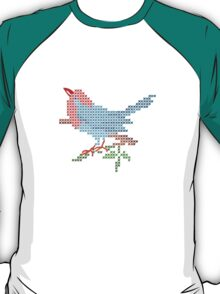 Dear Little Cross Stitch Bird T-Shirt