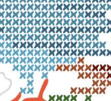 Dear Little Cross Stitch Bird Sticker