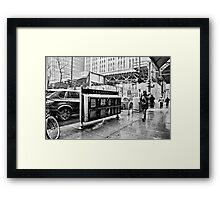 Through the snowstorm Framed Print