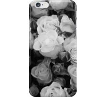 Black and white roses iPhone Case/Skin