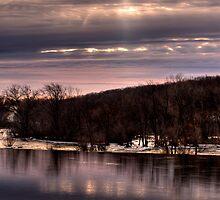 Late Sunrise at Kaukauna Wisconsin by Thomas Young