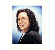 portrait of Jackie Chan Art Print