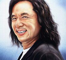 portrait of Jackie Chan by Przemysław Bródka