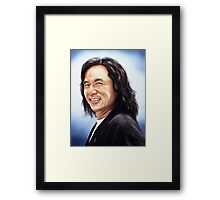 portrait of Jackie Chan Framed Print