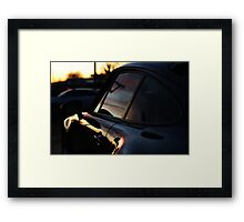 Air-Cooled when the sunrise's and fall's Framed Print