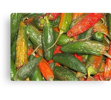 Peppers Up Close Canvas Print