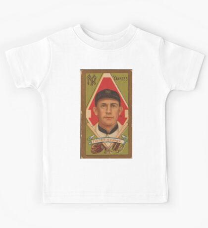 Benjamin K Edwards Collection Ray Fisher New York Yankees baseball card portrait Kids Tee