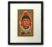 Benjamin K Edwards Collection Ray Fisher New York Yankees baseball card portrait Framed Print