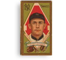 Benjamin K Edwards Collection Ray Fisher New York Yankees baseball card portrait Canvas Print