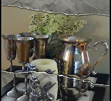 Still Life - Sliver Pitcher & Goblets by ecannon11