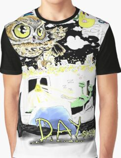 Night Owl Day Slug Graphic T-Shirt