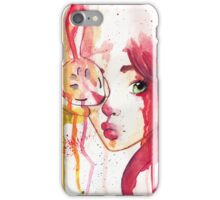rabbit and girl iphone case iPhone Case/Skin