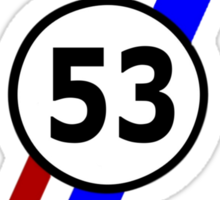 VW 53, Herbie the Love Bug's racing stripes and number 53 Sticker