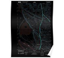 USGS Topo Map Washington State WA Vancouver 20110826 TM Inverted Poster