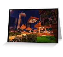 Minecraft Illuminated Hub Greeting Card