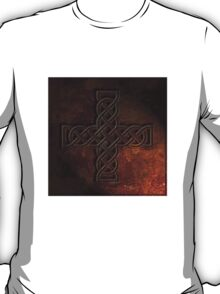 Celtic Knotwork Cross 02 - Rust Texture 01 TShirt T-Shirt