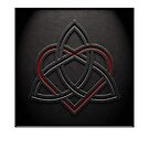 Celtic Knotwork Valentine Heart 01 - Leather Texture 01 Print by Brian Carson