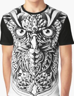 Owl Portrait Graphic T-Shirt