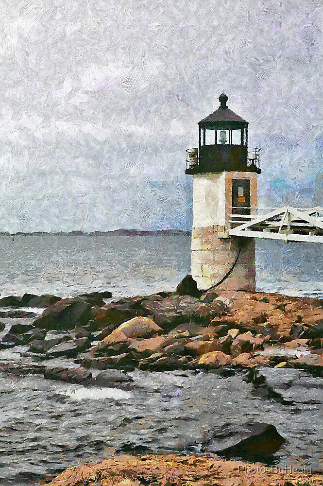 Marshall Point Light II - painted by PhotosByHealy