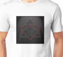 Celtic Knotwork Valentine Heart 01 - Leather Texture 01 TShirt Unisex T-Shirt
