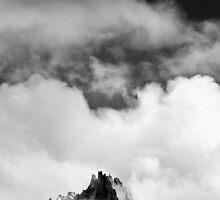 Aiguille above Chamonix by ubersoldat
