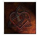 Celtic Knotwork Valentine Heart 01 - Rust Texture 01 Print by Brian Carson