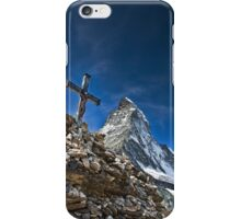 Matterhorn and the fate of some climbers iPhone Case/Skin