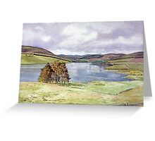 The Backwater Dam, Glen Isla, Angus Greeting Card