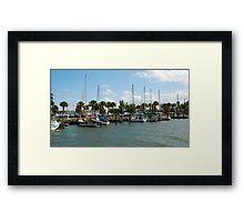 Fort Pierce Marina Framed Print